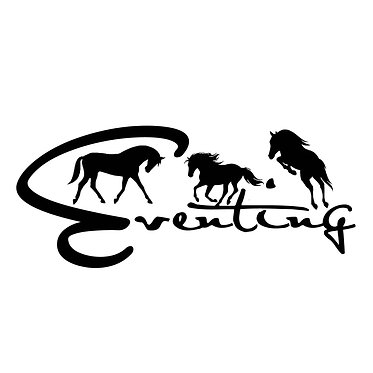 Eventing horse vinyl decal sticker for float, car, trailer front view