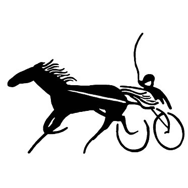 Horse vinyl decal sticker harness racing horse front view