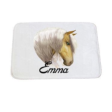 Personalised non-slip bath mat palomino horse image front view