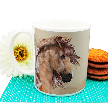 Paint horse ceramic coffee mug front view