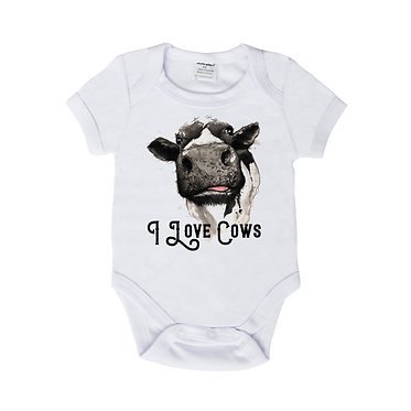 Baby clothing romper i love cows