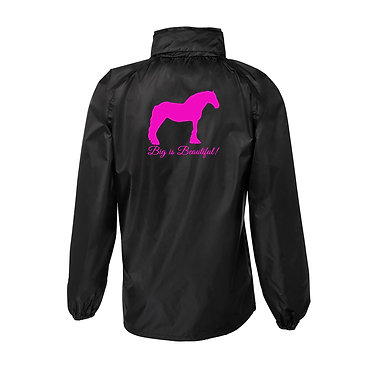Rain sheet adults black with hot pink big is beautiful heavy horse image back view