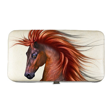 Ladies hard case purse horse with flowing main