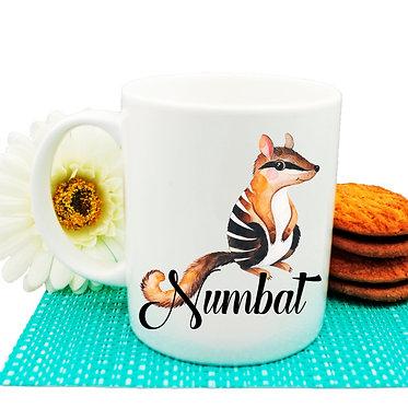 Ceramic coffee mug Australian Numbat image front view