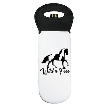 Wine cooler carry bag neoprene wild n free paint horse image front view