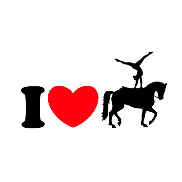I love vaulting horse vinyl decal sticker front view