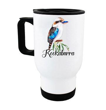 Travel mug Australian Kookaburra image front view