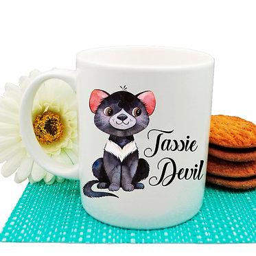 Ceramic coffee mug Australian Tasmanian Devil image front view