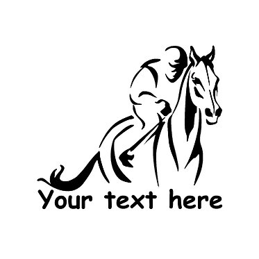 Racehorse custom decal sticker front view