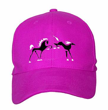 HORSE CAP HAT TWO HORSES