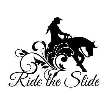 Decal sticker horse reining horse with quote ride the slide
