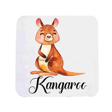 Neoprene drink coaster Australian Kangaroo image front view