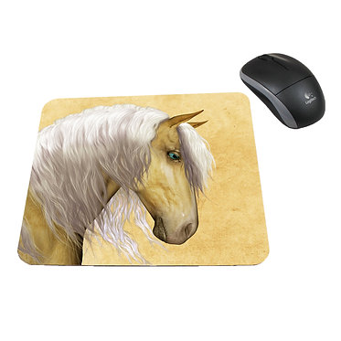 Neoprene computer mouse pad palomino horse image front view