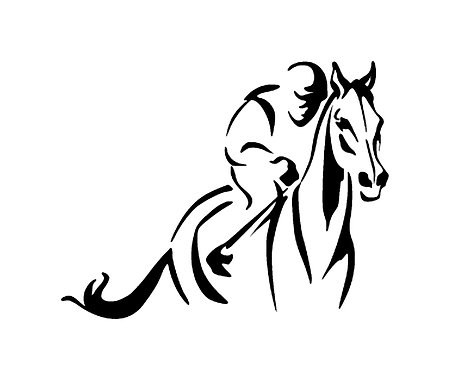 Racehorse decal sticker front view