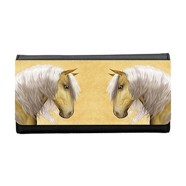 Ladies/girls purse wallet palomino horse image front view