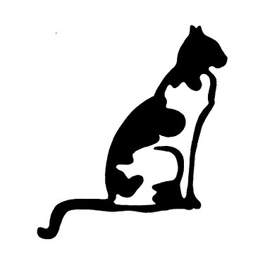 Cat vinyl decal sticker cat front view