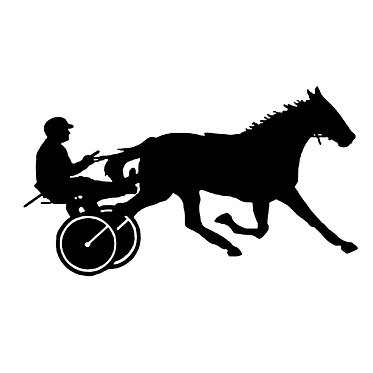 Horse vinyl decal sticker harness racing front view