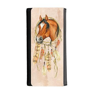 Ladies/girls purse wallet dream catcher horse image front view