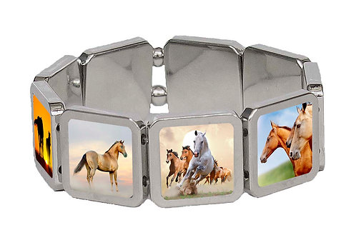 Horse Panel Bracelet Front View