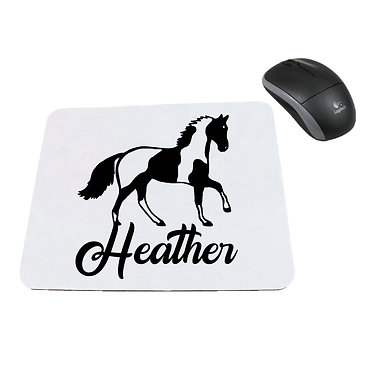 Neoprene computer mouse pad personalised paint horse image front view