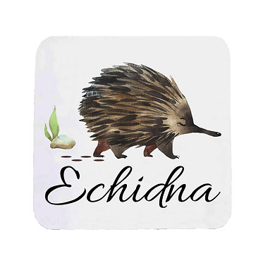 Neoprene drink coaster Australian Echidna image front view