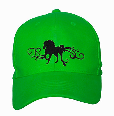HORSE CAP HAT HORSE WITH SCROLL ACCENTS