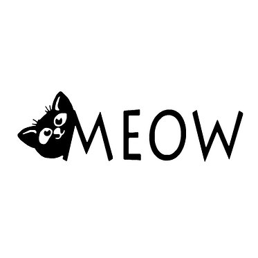 Cat vinyl decal sticker cat meow front view
