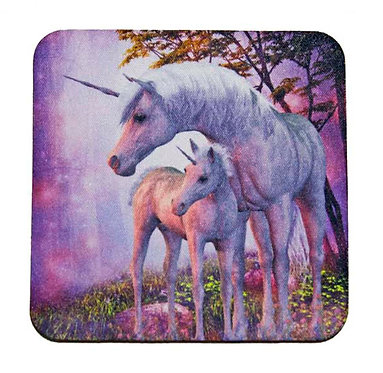 Pink Unicorn Coaster Front View