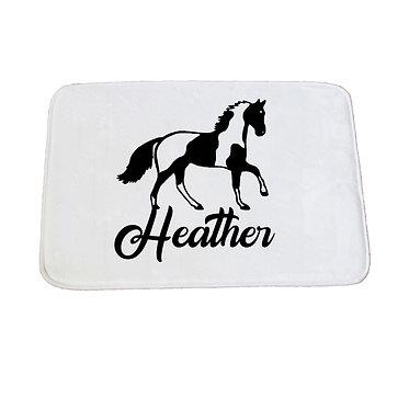 Personalised non-slip bath mat paint horse image front view