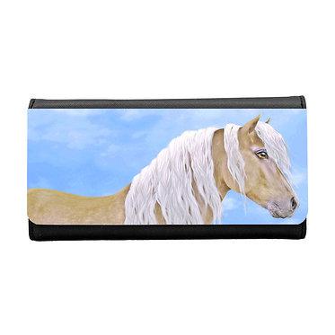 Ladies/girls purse wallet beautiful palomino horse image front view