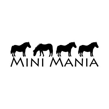 Mini mania pony horse decal sticker in black front view