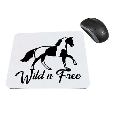 Neoprene computer mouse pad wild n free paint horse image front view