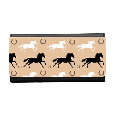Ladies/girls purse wallet horse pattern image front view