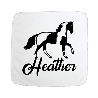 Personalised horse pillow case paint horse image front right facing view