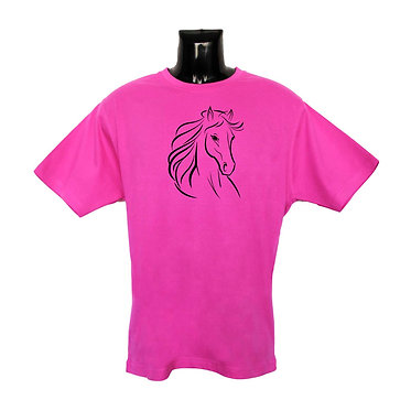 Pink Horse T-shirt Front View