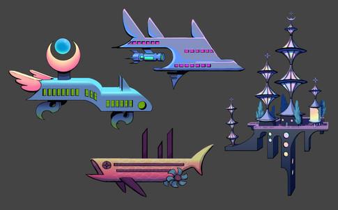 Spacecrafts, airships