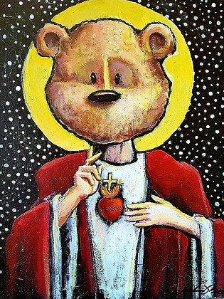 Sacred Heart of Teddy (Prints)