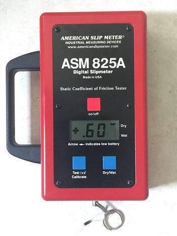 Digital slip meter that measures the slip resistance of a floor