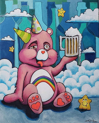 """Cheers Bear"" (Prints)"