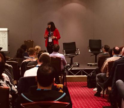 Tina Taylor presenting at NLP Life Training