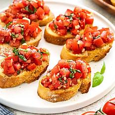 Bruschetta con aglio e pomodoro  (4 pcs)