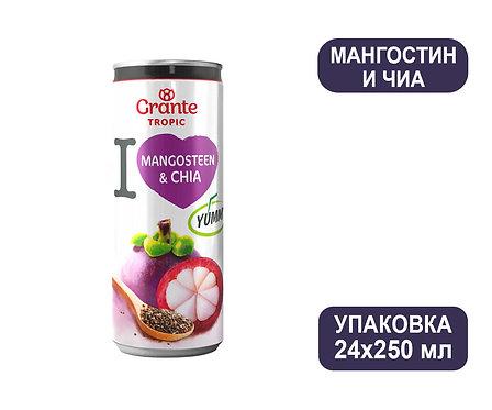 Упаковка Соков Мангостин и чиа Grante Tropic. Ж/б. 250 мл
