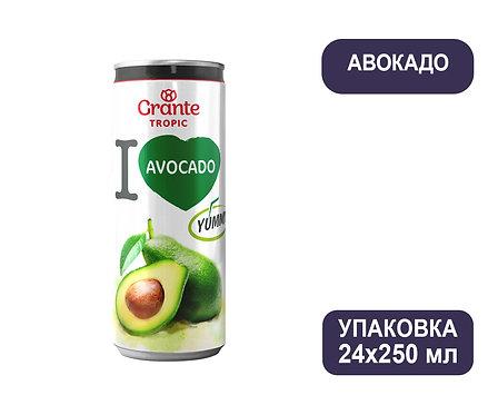 Упаковка Соков Авокадо Grante Tropic. Ж/б. 250 мл