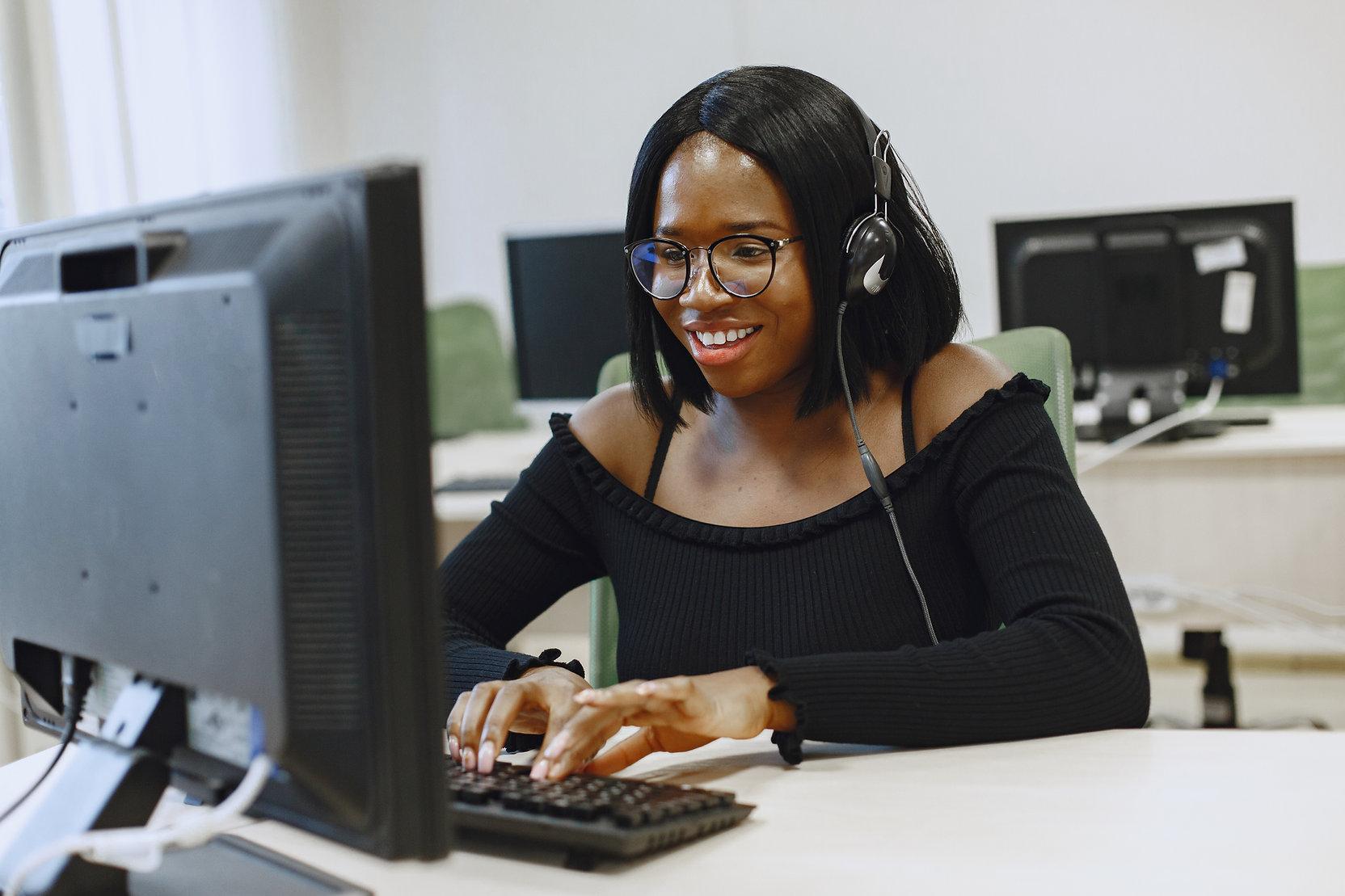 African student at MedicScan Engineer Program Class.