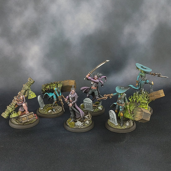 Lady Justice and her Death Marshals (WYRD) MALIFAUX Justice Guild