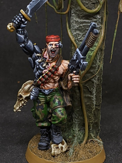 Colonel Iron Hand Straken (GW) WH40K Catachan Jungle Fighters