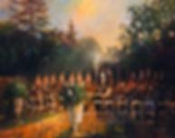 Backyard Wedding Painting, Dan Nelson