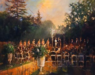 Backyard Wedding Painting, Dan Nelson