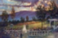 Afton, Virginia Wedding painting, Dan Nelson