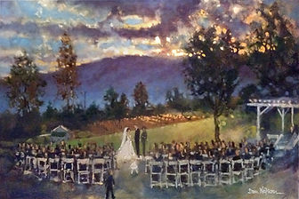 Afton, Virginia Wedding painting, Dan Nelson
